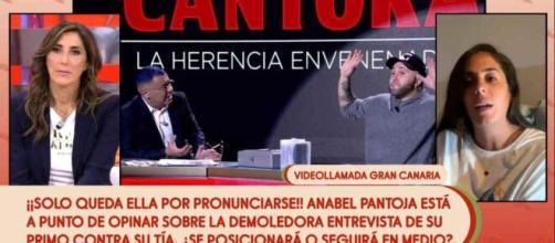 Aanabel Pantoja en directo en 'Sálvame'
