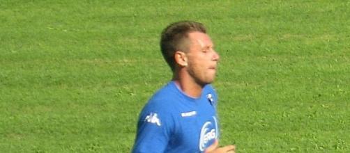 Antonio Cassano con la maglia della Sampdoria.