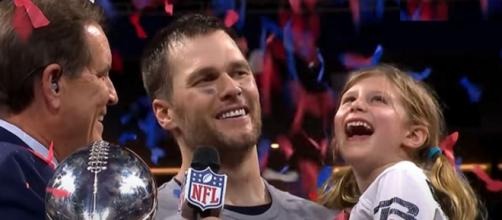 Brady and daughter Vivi celebrate the Patriots' Super Bowl LIII win (Image Credit: NFL/YouTube)