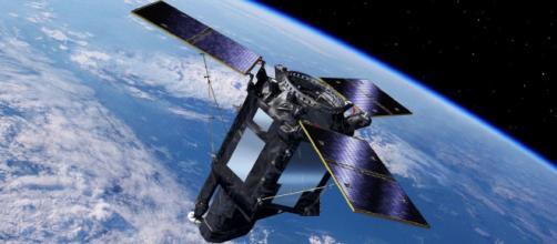 El satélite Ingenio tal y como hubiera flotado en el espacio de no haberse perdido al fallar el cohete que lo transportaba