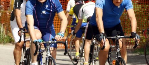 L'ex premier e grande appassionato di ciclismo Romano Prodi.