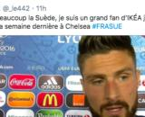 La photo d'Olivier Giroud sur Twitter fait le buzz - Photo capture d'écran Twitter