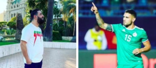 Andy Delort se moque de Mohamed Henni sur les réseaux sociaux et régale les fans. Source: Photo Montage ok