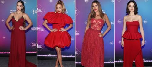 El rojo arrasó en la alfombra roja de los People's Choice Awards 2020