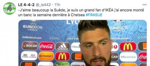 La photo d'Olivier Giroud sur Twitter fait le buzz - Photo capture d'écran Twitter