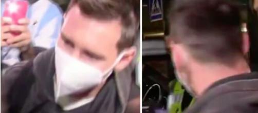 Messi répond aux journalistes à son arrivée à l'aéroport - Photo capture d'écran vidéo twitter
