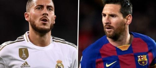 Eden Hazard e Lionel Messi estão entre os jogadores mais valiosos do Campeonato Espanhol. (Fotomontagem)