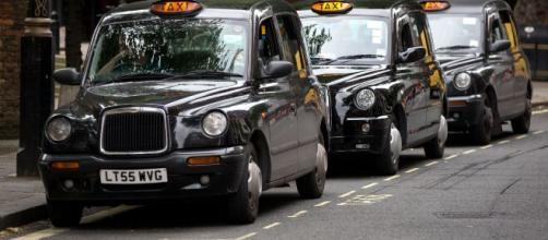 Electric black cabs hit London's streets. [Image source/BBC London YouTube video]