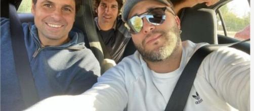 Kiko, Fran y Cayetano Rivera visitan a su tío juntos