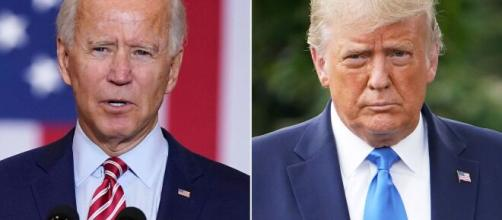 A disputa entre Joe Biden e Donald Trump movimenta o mundo. (Fotomontagem)