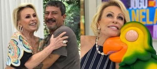 Ana Maria e Tom Veiga como Louro José. (Fotomontagem)