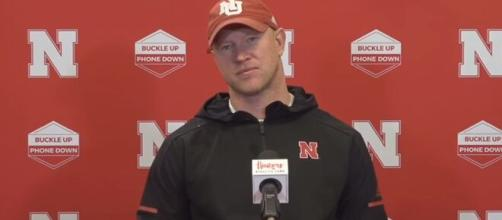 Scott Frost hopeful that Huskers will get a chance to play this Saturday against Wildcats. [Image Source: HuskerOnline Video/ YouTube Screenshot]