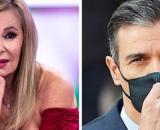 La actriz Ana Obregón y el presidente del Gobierno español, Pedro Sánchez.
