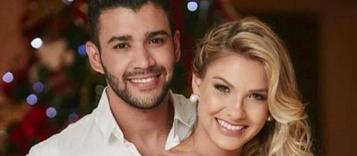 Gusttavo Lima e Andressa Suita anunciaram término em outubro. (Arquivo Blasting News)