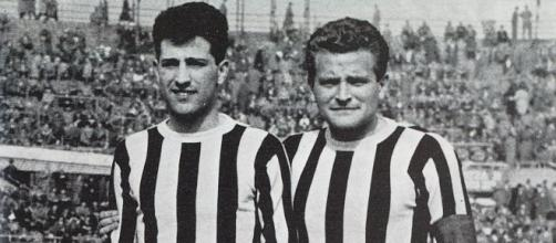 Nella foto Angelo Caroli e Giampiero Boniperti.