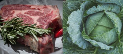 Carne vermelha e vegetais escuros são boas opções. (Fotomontagem/Pexels)