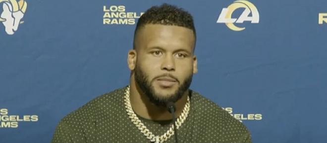 Aaron Donald praises Tom Brady ahead of Buccaneers-Rams MNF showdown
