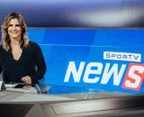 Janaína Xavier na bancada do Sportv News. (Arquivo Blasting News)