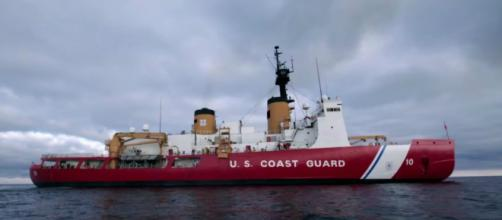 US Coast Guard's only heavy icebreaker, the Polar Star is heading to the Arctic. [Image Source: National Geographic/YouTube]