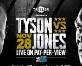 Mike Tyson vs Roy Jones in pay per view su Sky domenica 29 novembre.