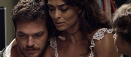A estudante vai passar por uma virada na trama, envolvendo-se com o crime pelo marido. (Reprodução/TV Globo)