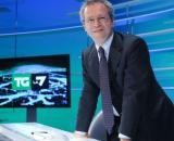 Enrico Mentana direttore del TgLa7: Lega torna a crescere nel sondaggio Swg.