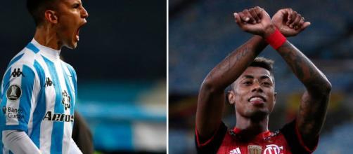 Racing e Flamengo se enfrentam pelo jogo de ida das oitavas da Libertadores 2020. (Fotomontagem)