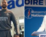 Karim Benzema répond au membre du rassemblement national qui l'a comparé à un terroriste. Source: Photo Montage