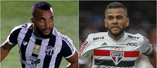 Ceará e São Paulo se enfrentam em jogo atrasado do Campeonato Brasileiro. (Fotomontagem)