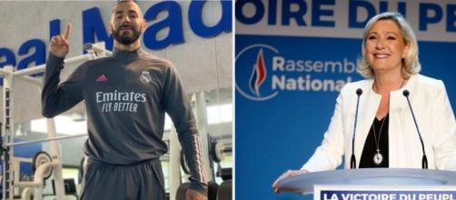 Karim Benzema répond au membre du rassemblement national qui l'a comparé à un terroriste. Source: Photo Montage