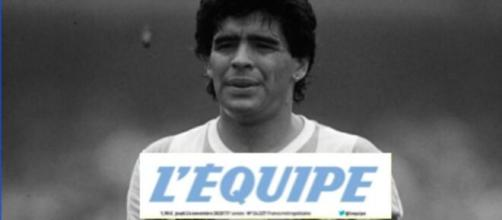 La Une L'Equipe de Diego Maradona fait polémique - Photo montage