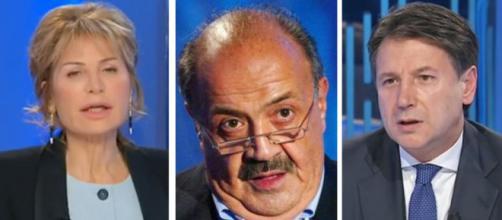 Lilli Gruber, Maurizio Costanzo, Giuseppe Conte