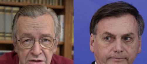 Olavo de Carvalho diz que Jair Bolsonaro não apoia quem defende o governo. (Arquivo Blasting News)