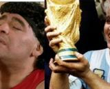 El exfutbolista Diego Maradona y la cantante Madonna.