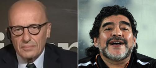 Alessandro Sallusti e Diego Armando Maradona (Ph. Wikimedia Commons - Ureinwohner)
