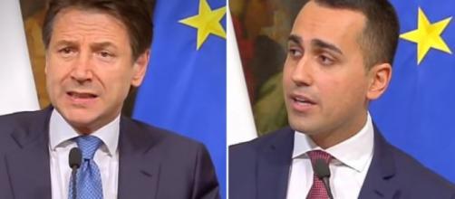 Giuseppe Conte e Luigi Di Maio, ministro del Lavoro nel governo Lega-M5s.