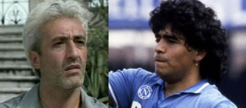 Un posto al sole: Raffaele Giordano (Patrizio Rispo) e Diego Armando Maradona.