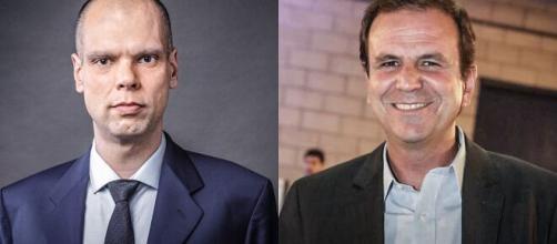 Bruno Covas (PSDB) e Eduardo Paes (DEM) se elegeram para prefeitos em São Paulo e no Rio de Janeiro, respectivamente. (Fotomontagem)