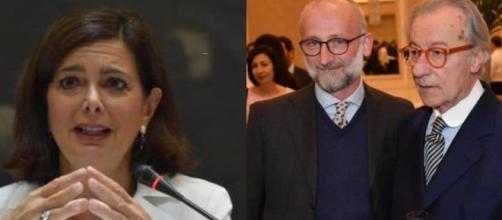 Polemica tra Laura Boldrini e i due Feltri, Mattia e Vittorio.