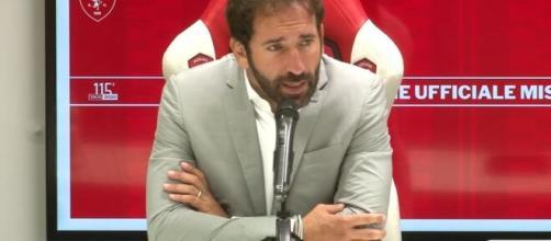 L'allenatore del Perugia Calcio, Fabio Caserta.