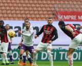 Il gol di Romagnoli che apre la partita Milan-Fiorentina - foto di : acmilan.com