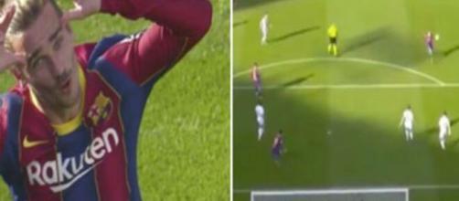 Griezmann a inscrit un but d'anthologie avec le Barça ce dimanche 29 novembre. ©capture d'écran Beinsports