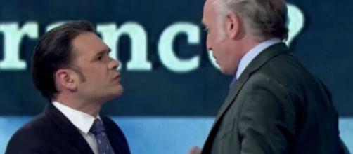 Iñaki López y Eduardo Inda en un tenso momento de 'La sexta noche'.