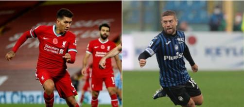 Adversários desta terça-feira (3), Liverpool e Atalanta seguem invictos no Grupo D. (Fotomontagem0