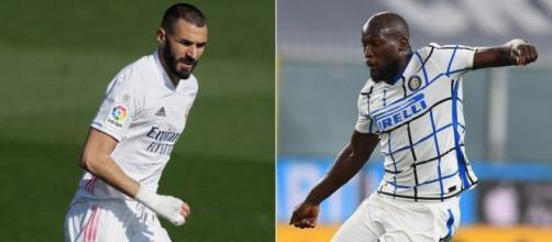 Em busca da primeira vitória na Liga dos Campeões da Europa, Real Madrid e Internazionale medem forças. (Fotomontagem)