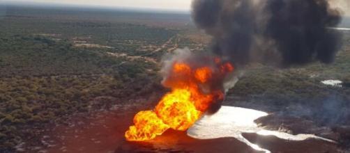 Explota gasoducto en municipio China, Nuevo León; no hay heridos. - lopezdoriga.com