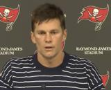 Brady threw for 345 yards and three touchdowns. [©Tampa Bay Buccaneers/YouTube]