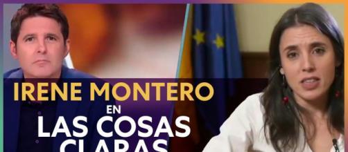 Jesús Cintora entrevista a Irene Montero en 'Las cosas claras'.