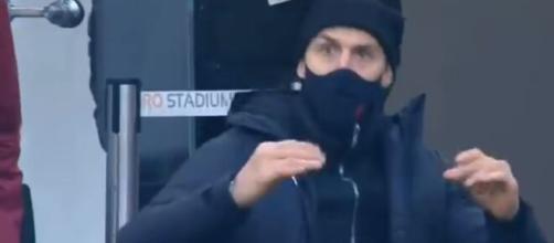 Milan, Ibrahimovic reagisce all'esultanza di Romagnoli.