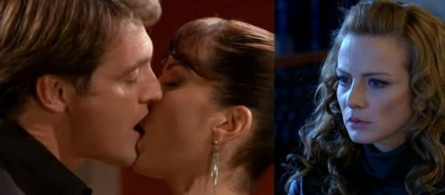 Renata tenta acreditar que Jerônimo não sabia da gravidez. (Televisa)